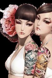 Modern Geishas: Render by apricot-tea