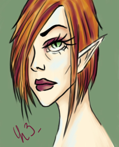 Elf profile by Erydrin
