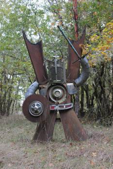 Car parts sculpture