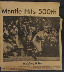 Mickey Mantle's 500th by finhead4ever