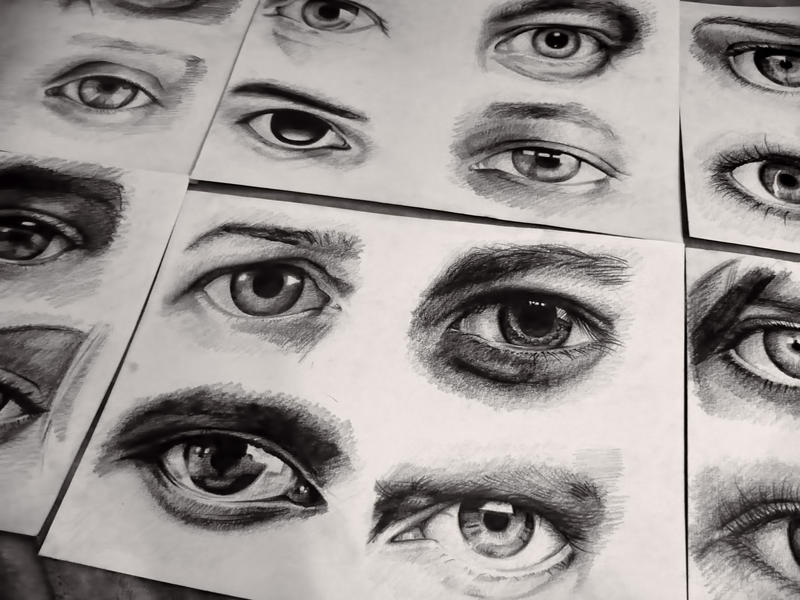 Eyes Study by viktorkrieger