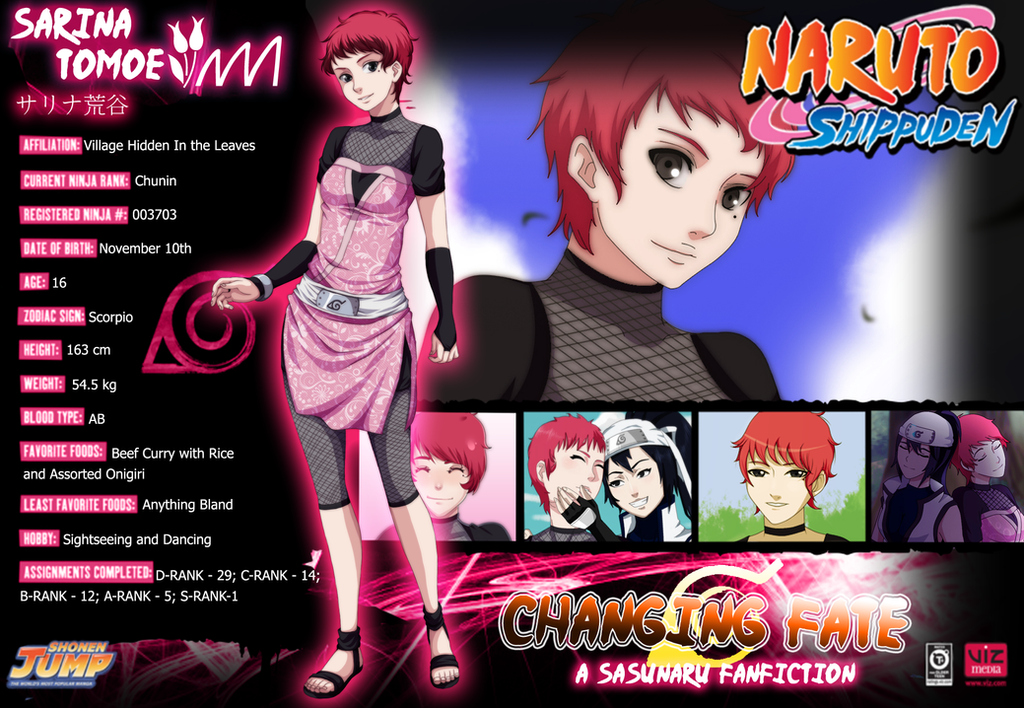 Sarina Tomoe Biography By Dreamchaser21 On DeviantArt