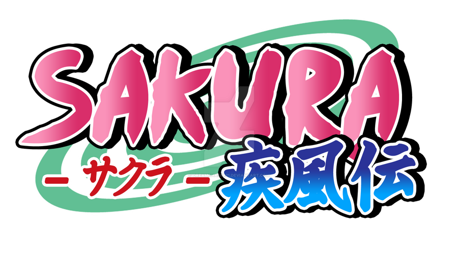 authentic naruto logo: sakura shippudendreamchaser21 on deviantart