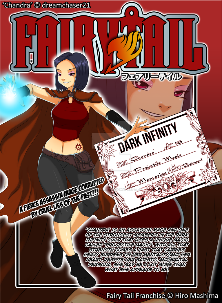 Fairy Tail OC - 'Chandra' Guild Card by dreamchaser21 on DeviantArt