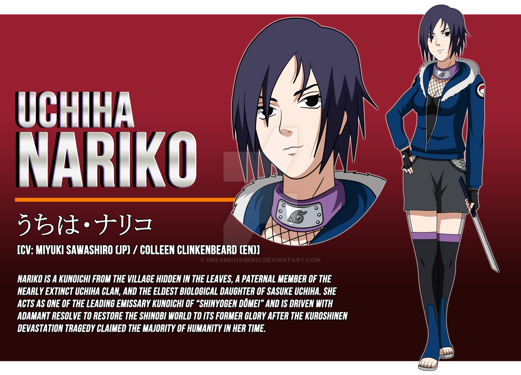 .:*Naruto OC - Nariko Uchiha [Full Profile]*:. by dreamchaser21