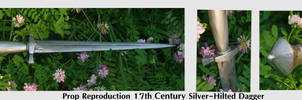 17th century silver dagger repro-prop