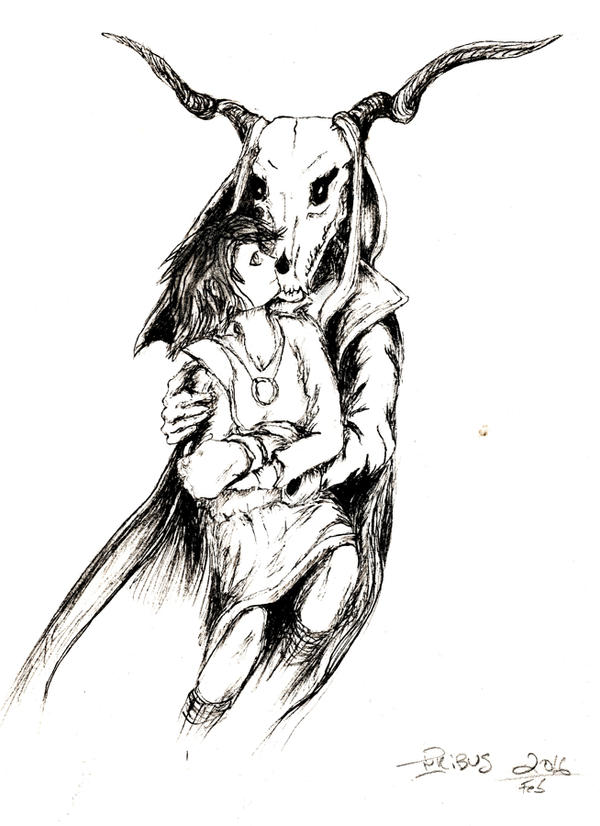 Bride of the ancient Magus, inked by InKibus