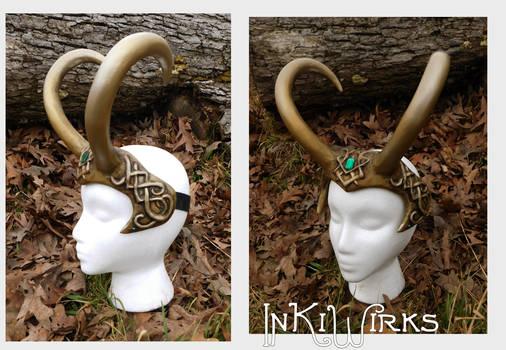 Custom Loki-trickster horns celtic