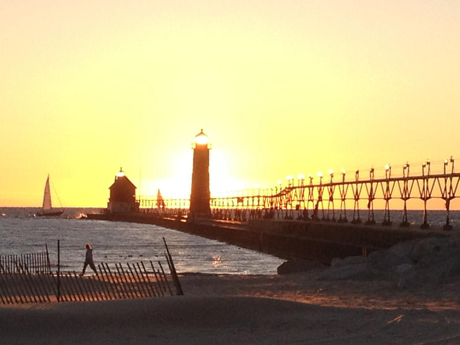 Grand Haven Sunset by AussieSheilaSunsets