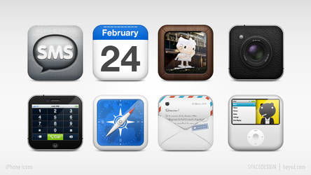 iPhone replacement icon set by hehedavid