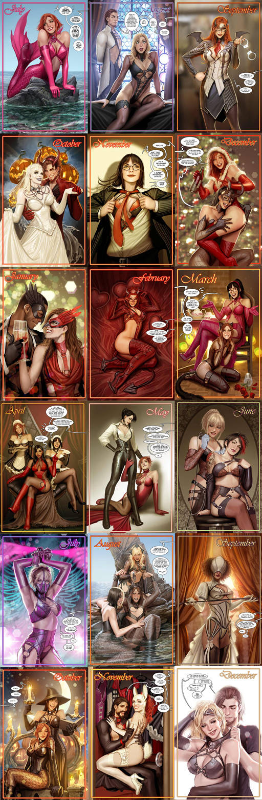sunstone calendar v2 is completed by shiniez