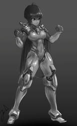 Random Mech - cyborg character