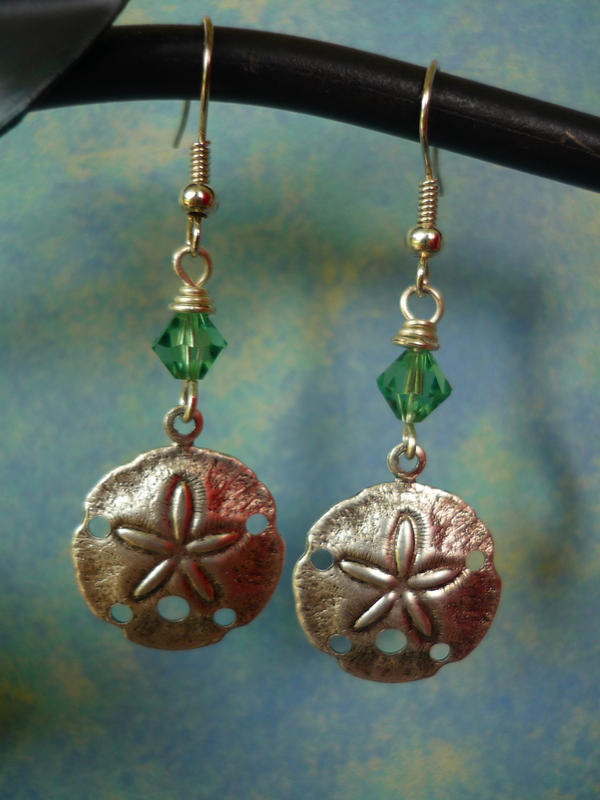 Sand Dollar Earrings by FusedElegance
