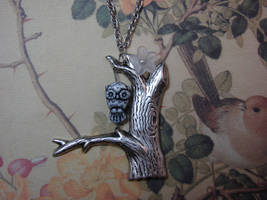 Lil' Owl in Tree Necklace