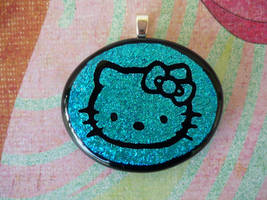 Hello Kitty Fused Glass by FusedElegance