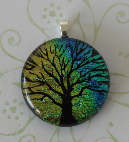 Rainbow Fused Glass Tree by FusedElegance