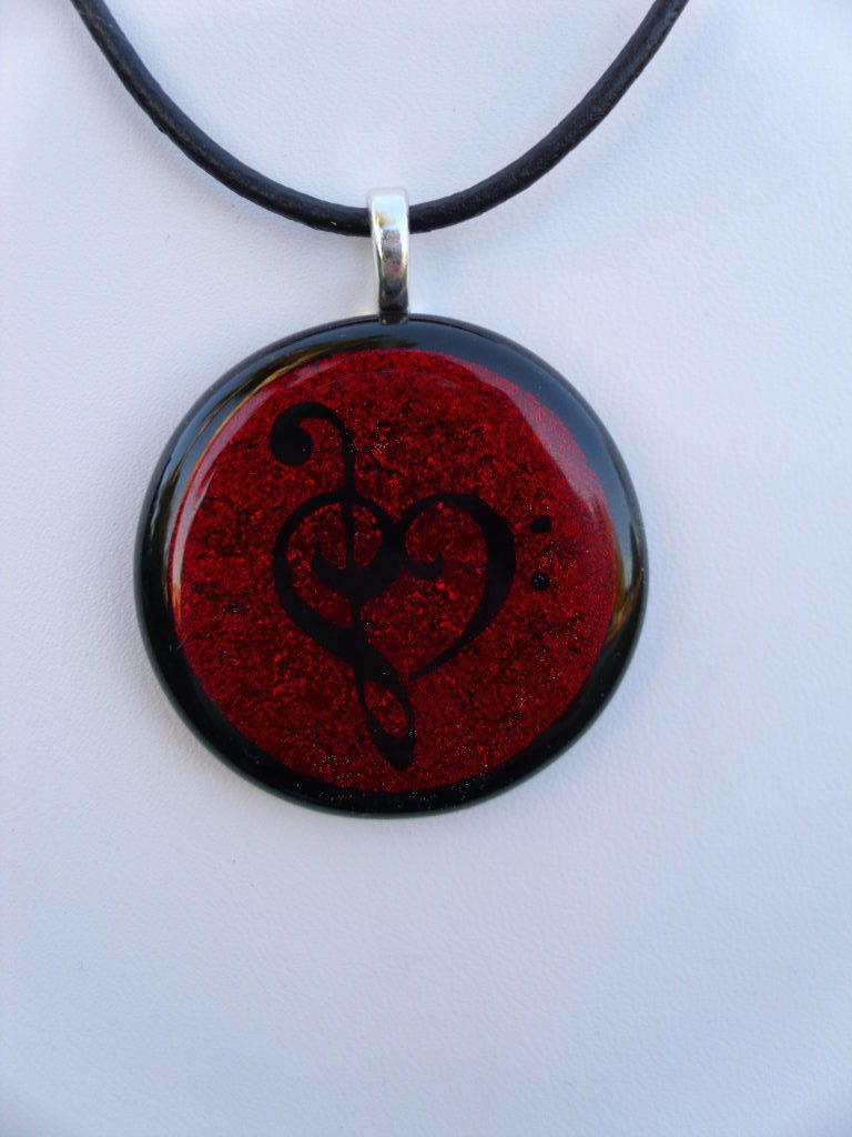 Custom Red Music Love Glass by FusedElegance