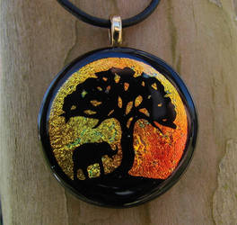 African Sunset Fused Glass
