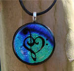 Bl Mix Music Love Fused Glass