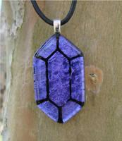LoZ Purple Glass Rupee by FusedElegance