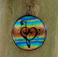 Striped Glass Music Love by FusedElegance