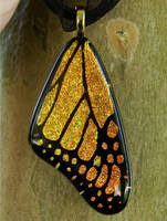Yellow Gold Glass Wing by FusedElegance