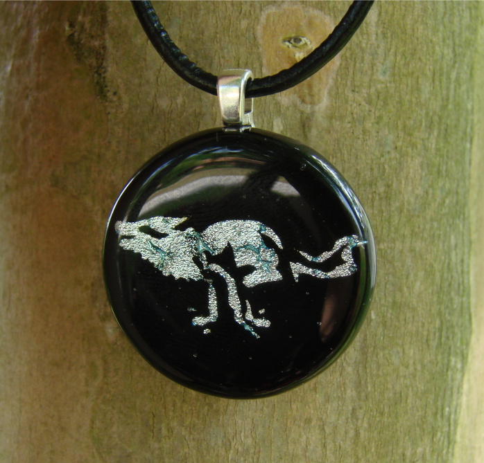 TWEWY Wolf Fused Glass by FusedElegance
