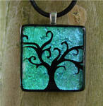 Whimsical Fused Glass Tree