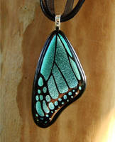 Blue Morpho Wing Ver.2 Glass by FusedElegance