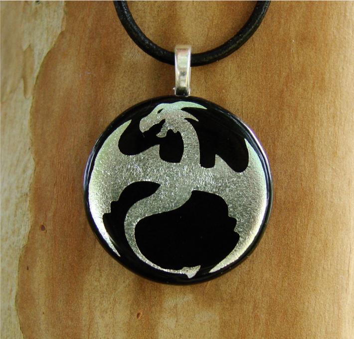 Silver Glass Dragon Custom by FusedElegance