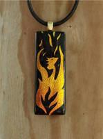 Phoenix Rebirth Fused Glass by FusedElegance