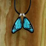 Custom Glass Blue Mini Wings
