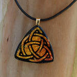 Warm Trinity Knot Fused Glass