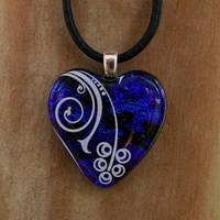 Swirled Heart Fused Glass by FusedElegance