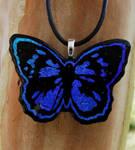 Blue Morpho Glass Butterfly
