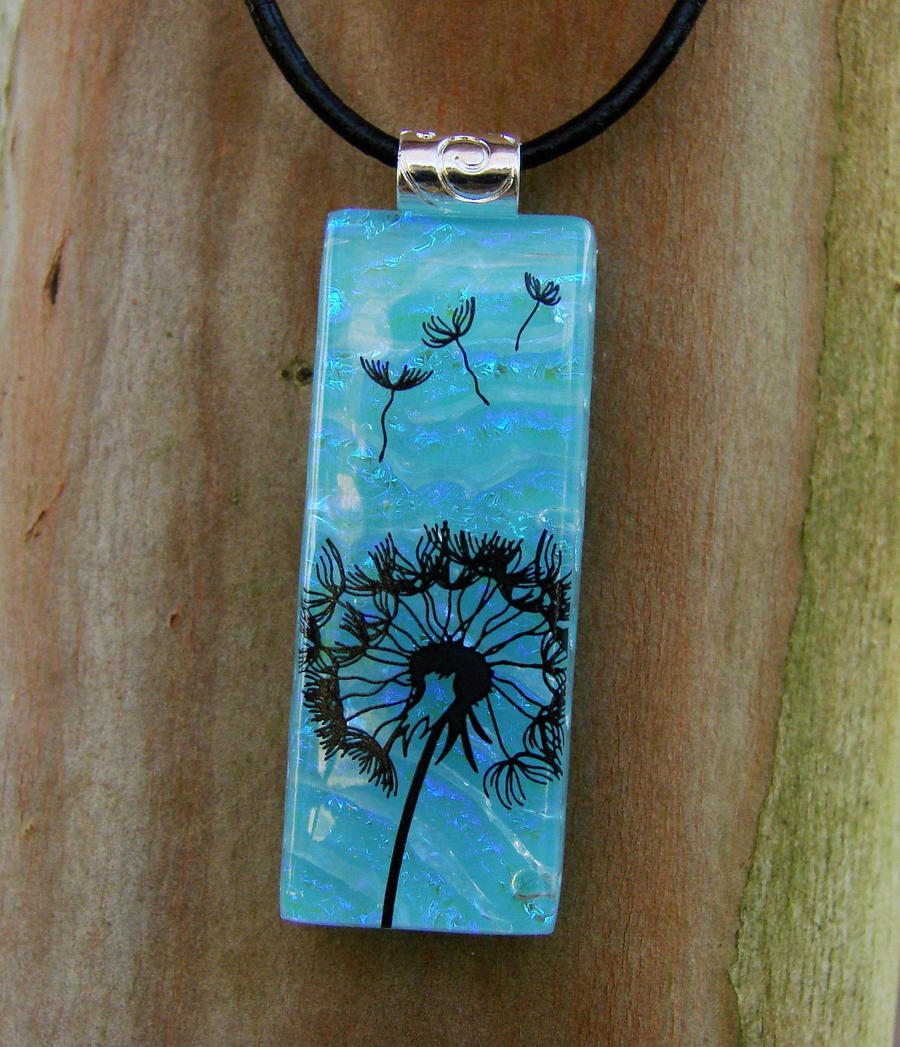 Dandelion Wish Fused Glass by FusedElegance