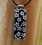 Silver Blossoms Fused Glass