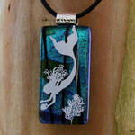 OoAK Diving Fused Glass