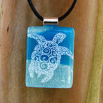 Tribal Sea Turtle Fused Glass