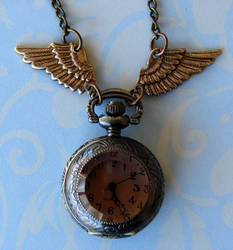Steampunk PocketWatch Necklace by FusedElegance