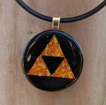 Round Fused Glass Triforce