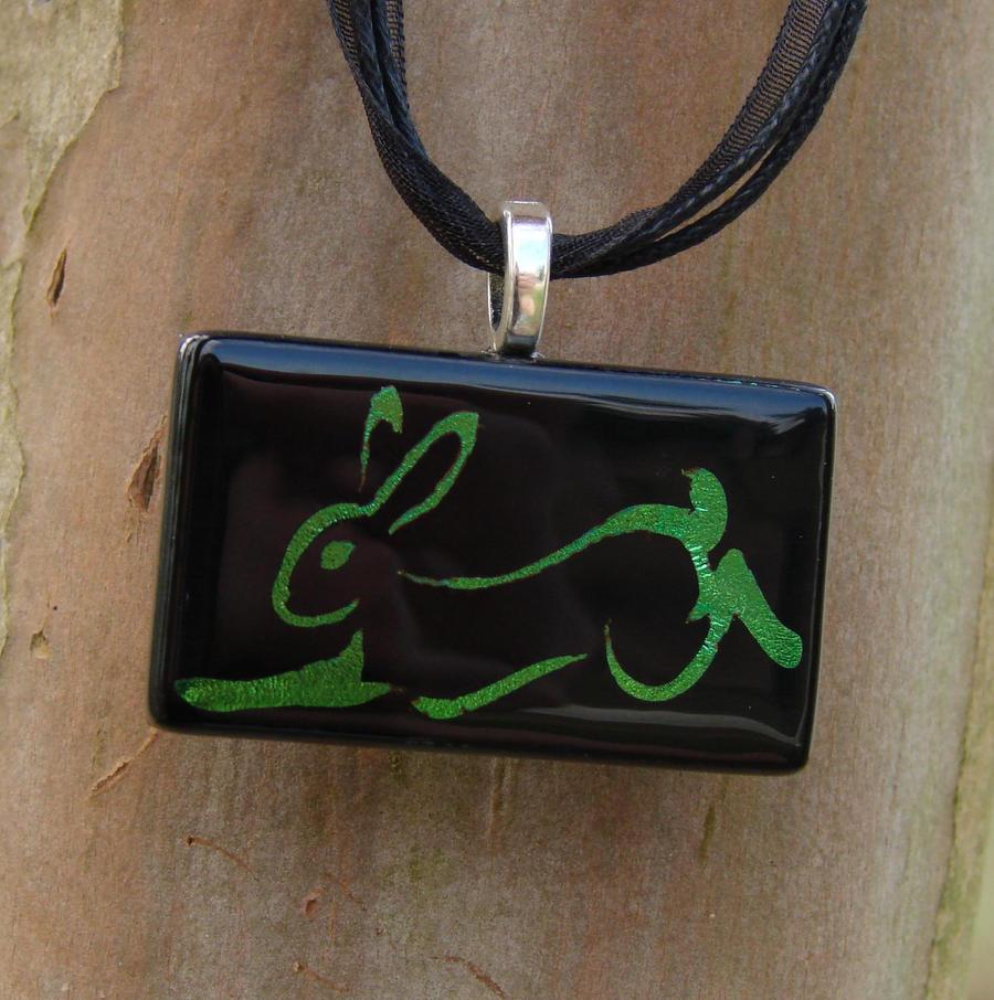 Calligraphy rabbit glass by fusedelegance on deviantart