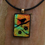 Sunset Branch Fused Glass