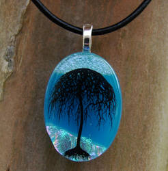 Blue Skies Willow Glass by FusedElegance