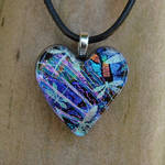 Dragonfly Love Fused Glass
