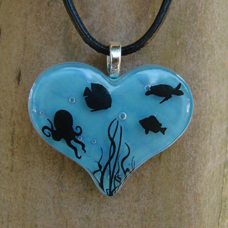 Ocean Love Fused Glass by FusedElegance