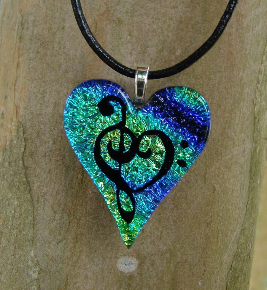 Glass Music Love Heart by FusedElegance