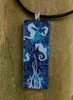 Seahorse Lagoon Glass by FusedElegance