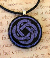 Purple Glass Celtic Knot by FusedElegance