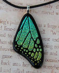 Yellow Green Mix Glass Wing
